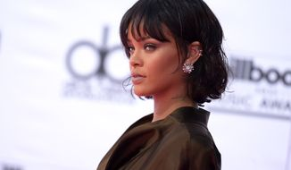 Rihanna arrives at the Billboard Music Awards at the T-Mobile Arena on Sunday, May 22, 2016, in Las Vegas. (Photo by Richard Shotwell/Invision/AP) **FILE**