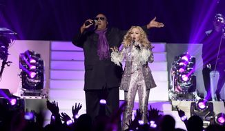Stevie Wonder, left, and Madonna perform a tribute to Prince at the Billboard Music Awards at the T-Mobile Arena on Sunday, May 22, 2016, in Las Vegas. (Photo by Chris Pizzello/Invision/AP)