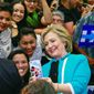 Prominent Hispanic conservative organizations say that Democratic front-runner Hillary Clinton is often viewed by Hispanic voters as opportunistic. (Associated press)