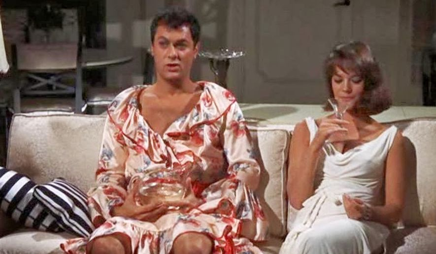 "Tony Curtis and Natalie Wood in the film ""Sex and the Single Girl."""