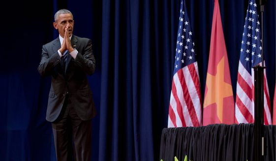 President Obama acknowledged that some dissidents who had been invited to meet with him were not able to attend. A White House aide blamed the Vietnamese government for preventing attendance by two dissidents and human rights groups said police are preventing some activists from leaving their homes during Mr. Obama's visit. (Associated Press)