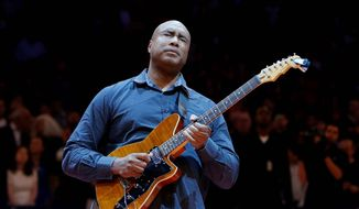 Former New York Yankee outfielder Bernie Williams graduated from the Manhattan School of Music in mid-May and is now in the next stage of his musical life. (Associated Press)