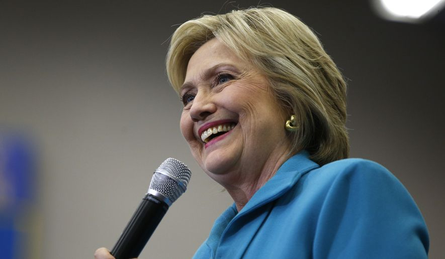 Democratic presidential candidate Hillary Clinton speaks Tuesday at a rally at the University of California, Riverside. (Associated Press)