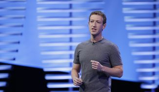 In this April 12, 2016, file photo, Facebook CEO Mark Zuckerberg speaks during the keynote address at the F8 Facebook Developer Conference in San Francisco. (AP Photo/Eric Risberg, File)