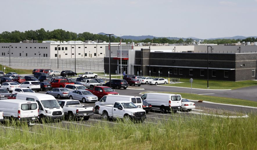 Trousdale Turner Correctional Center is shown Tuesday, May 24, 2016, in Hartsville, Tenn. Tennessee's newest prison has had to halt new admissions after just four months of full operation. A memorandum from a state prison official about the privately run facility says guards there do not have control of the housing units, aren't counting inmates correctly, and are sending them to solitary confinement for no documented reason. (AP Photo/Mark Humphrey) ** FILE **