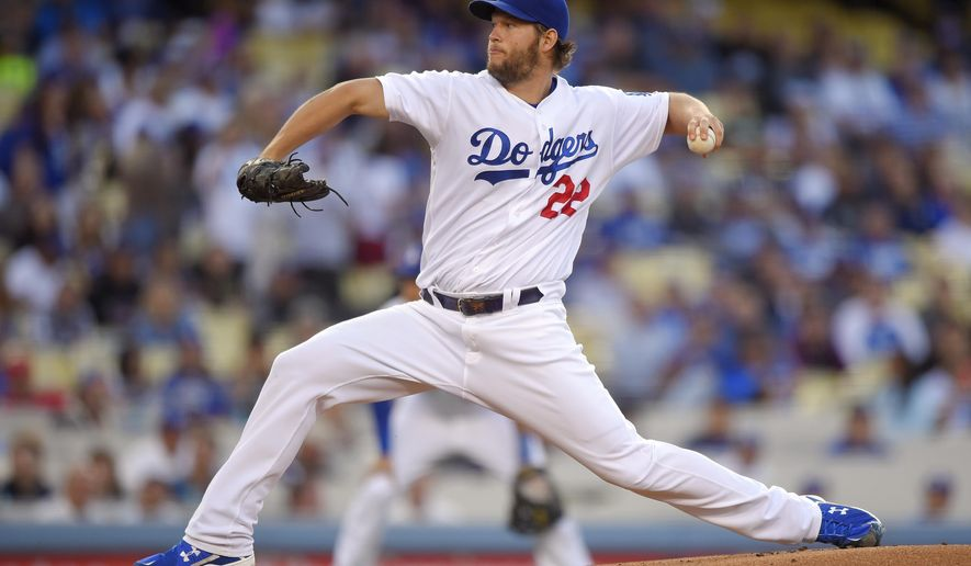 Los Angeles Dodgers starting pitcher Clayton Kershaw throws to the plate during the first inning of a baseball game against the Cincinnati Reds, Monday, May 23, 2016, in Los Angeles. (AP Photo/Mark J. Terrill)