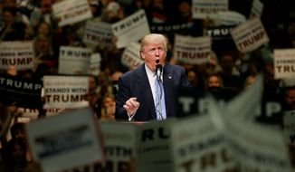A recent poll found that veterans favor Republican presidential candidate Donald Trump over his Democratic rival Hillary Clinton. (Associated Press)