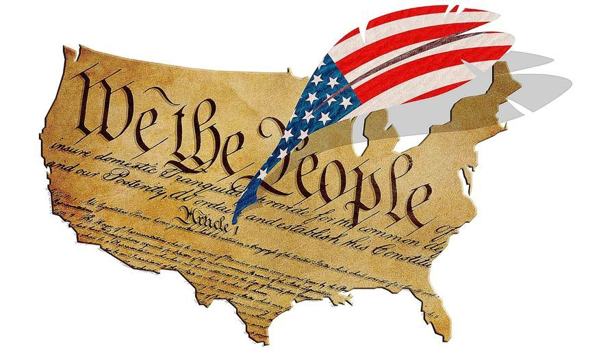 US Constitution (illustration by Greg Groesch/The Washington TImes)