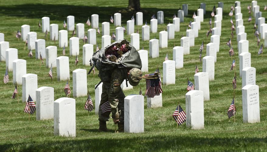Nice Members Of The Old Guard Place Flags In Front Of Every Headstone At  Arlington National Cemetery