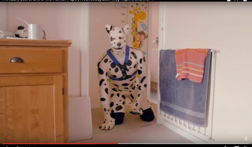 "Screenshot of trailer for ""Secret Life of the Human Pups"""