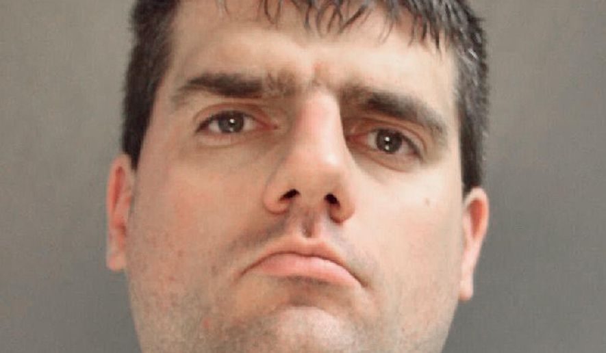 This undated photo provided by the Delaware County District Attorney's Office shows Christopher Nilan. The Upper Darby, Pa., resident was sentenced Wednesday, May 25, 2016, for stalking a female news reporter for KYW-TV in Philadelphia, and the Delaware County Daily Times reports he vowed in court to resume stalking the reporter as soon as his probation expires in 15 years. Nilan's sentence for stalking and terroristic threats also includes several months in prison, mental health treatment, three months of electronic home monitoring and a period of GPS tracking. (Delaware County District Attorney's Office via AP) MANDATORY CREDIT