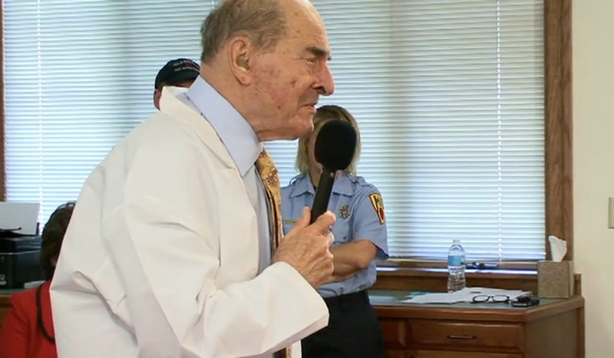Dr. Henry Heimlich, M.D. Screen-captured from YouTube video hosted at http://www.deaconess-healthcare.com/Heimlich_Institute/About_Dr._Heimlich. Accessed May 27, 2016.