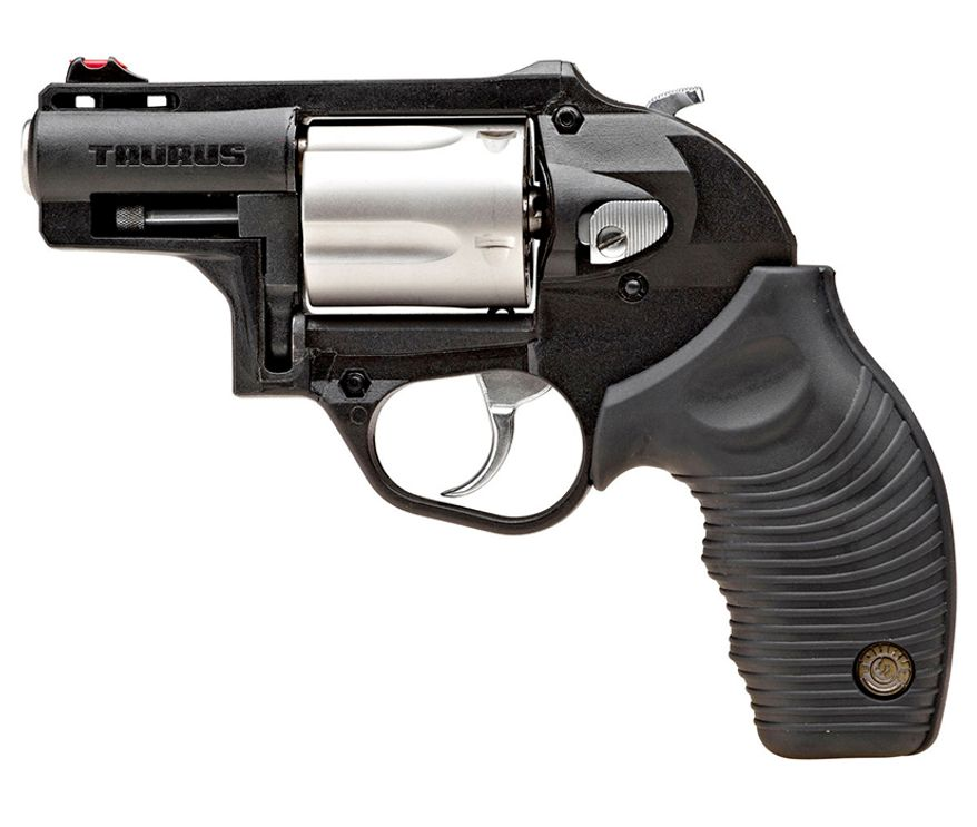 TAURUS PROTECTOR 605 - The new DT .357 Magnum Revolver is built to the same high standards you'd expect from Taurus. It comes ready for trouble with a new lightweight polymer body frame. clockwise cylinder rotation for fast loading, fiber optic front sight and a generous profile hammer. Truly, the new DT is the best revolver in its class