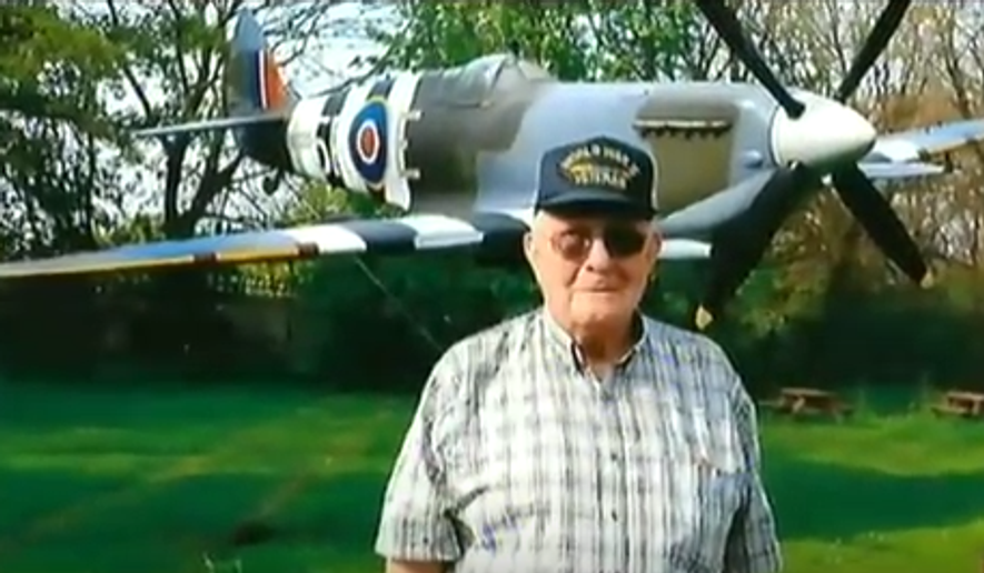 World War II veteran Melvin Rector (Screen capture of video from ITV London News)