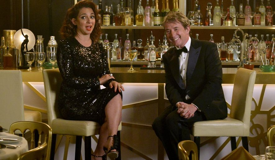 "This April 18, 2016 photo released by NBC shows Maya Rudolph, left, and Martin Short stars of the new variety show, ""Maya & Marty,"" premiering Tuesday, May 31 at 10 p.m. on NBC. (Lisa Rose/NBC via AP)"