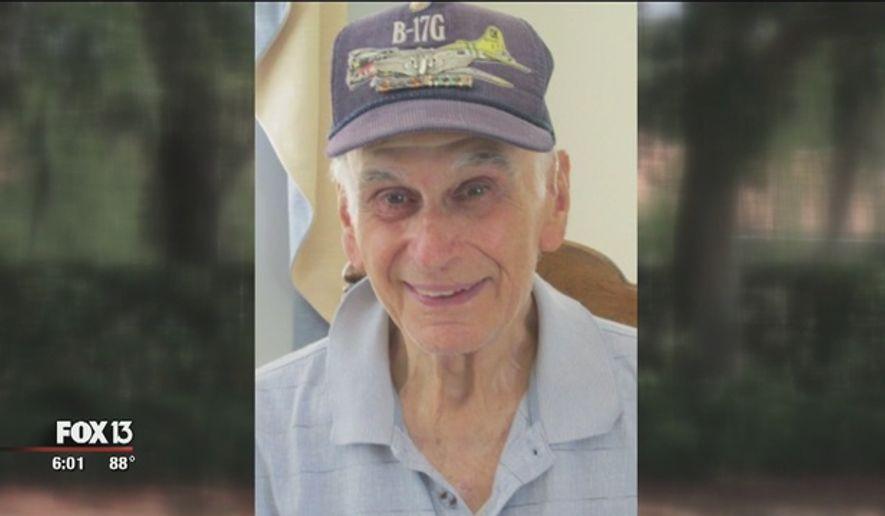 World War II veteran Michael Tristano, whom police say was beaten by his caretaker. Image via Fox13News.com. Accessed May 28, 2016. (http://www.fox13news.com/news/local-news/146891972-story)