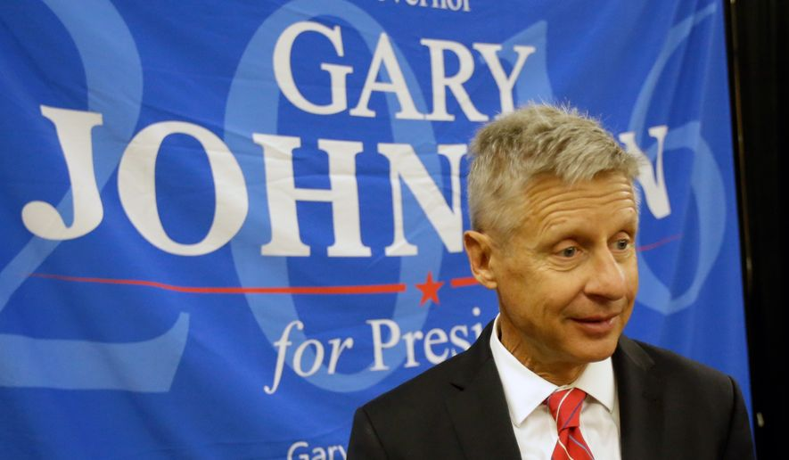 Gary Johnson won the party's presidential nomination on the second ballot with 55.8 percent of the delegate vote, giving him a second shot at the presidency after winning about 1.72 million votes as the party's candidate in 2012. (Associated Press)