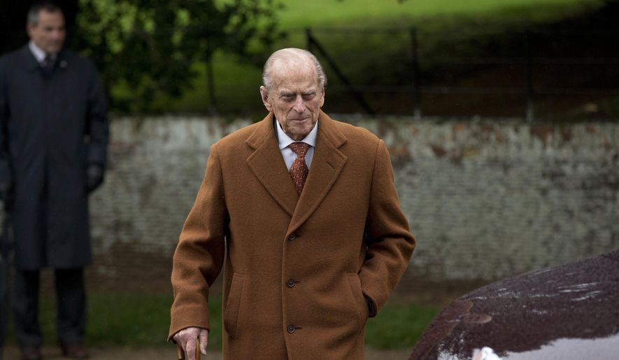 """FILE - In this file photo dated Friday, Dec. 25, 2015, Britain's Prince Philip leaves after attending the British royal family's traditional Christmas Day church service at St. Mary Magdalene Church in Sandringham, England, Friday, Dec. 25, 2015. Buckingham Palace officials said in a statement Monday May 30, 2016, that the 94-year old Prince Philip has """"reluctantly"""" decided to follow doctor's advice and not to attend upcoming centenary commemorations marking the Battle of Jutland in northeastern Scotland. Philip is not known to be ill. (AP Photo/Matt Dunham, FILE)"""