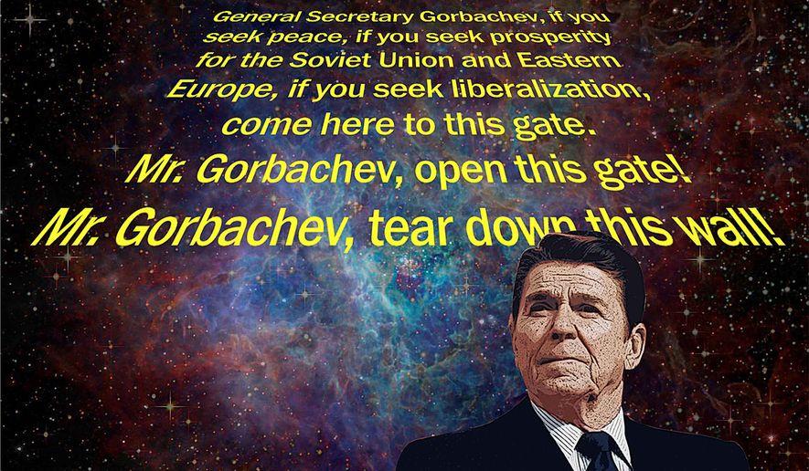 Reagan Star Wars Illustration by Greg Groesch/The Washington Times