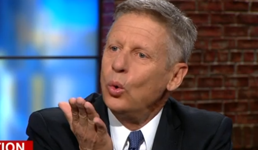 Libertarian presidential candidate blows Donald Trump a kiss on national TV.