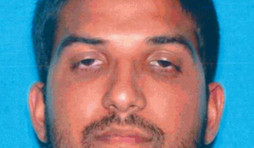 This undated photo provided by the California Department of Motor Vehicles shows San Bernardino, Calif., shooter Syed Rizwan Farook. Federal prosecutors have filed a lawsuit to seize payments on life insurance policies taken out by San Bernardino shooter Farook in the years before the December 2015 attacks. The U.S. attorney's office in Los Angeles filed the civil asset forfeiture lawsuit on Tuesday, May 31, 2016, for the two policies worth a total of $275,000. (California Department of Motor Vehicles via AP, File)