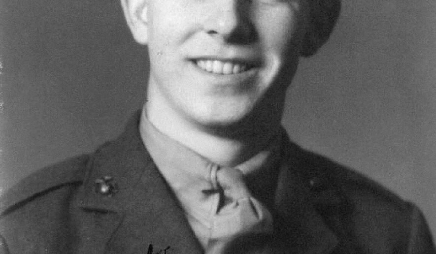 This undated photo shows Pfc James B. Johnson in his U.S. Marine Corps uniform. The Pentagon's Defense POW/MIA Accounting Agency announced that Johnson's remains, unaccounted for since World War II, have been identified and are being returned to his family for burial with full military honors. Pfc Johnson, 19, of Poughkeepsie, NY, died sometime on the first day of battle on the small island of Betio in the Tarawa Atoll in an attempt to secure the island from the Japanese, Nov. 20, 1943. (U.S. Marine Corps photo via AP)