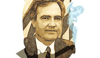 Vince Foster's Smoking Gun Illustration by Greg Groesch/The Washington Times