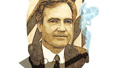 Vince Foster's Smoking Gun Illustration by Greg Groesch/The Washington Times