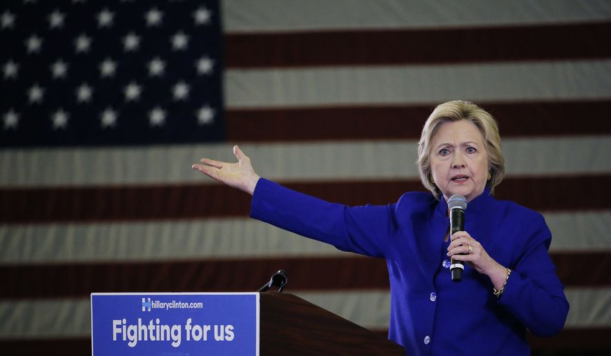 Hillary Clinton painted Donald Trump as erratic, irresponsible and dangerous, was the opening salvo of what is sure to be a central theme in the general election campaign. (Associated Press) ** FILE **