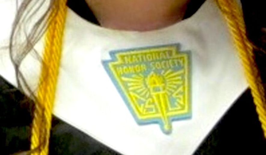 Students at Plano Senior High School in Plano, Texas, are not allowed to wear National Honor Society stoles for graduation because it might alienate other kids. (WFAA-8 ABC Texas screenshot)