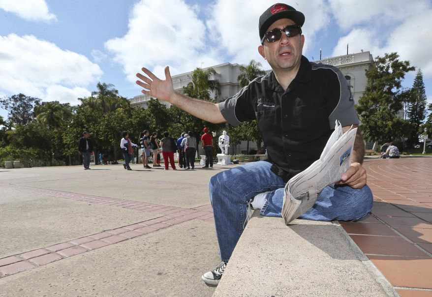 """Robert Nadell from San Diego, sits in Balboa Park, a place he calls """"one of the most beautiful parks in the world"""", Tuesday, May 24, 2016, in San Diego. Nadell says his concern about the future led him to prepare with savings and insurance"""". Demand for long-term care is expected to increase as the nation ages, but the majority of Americans 40 and older lack confidence in their ability to pay for it. (AP Photo/Lenny Ignelzi)"""