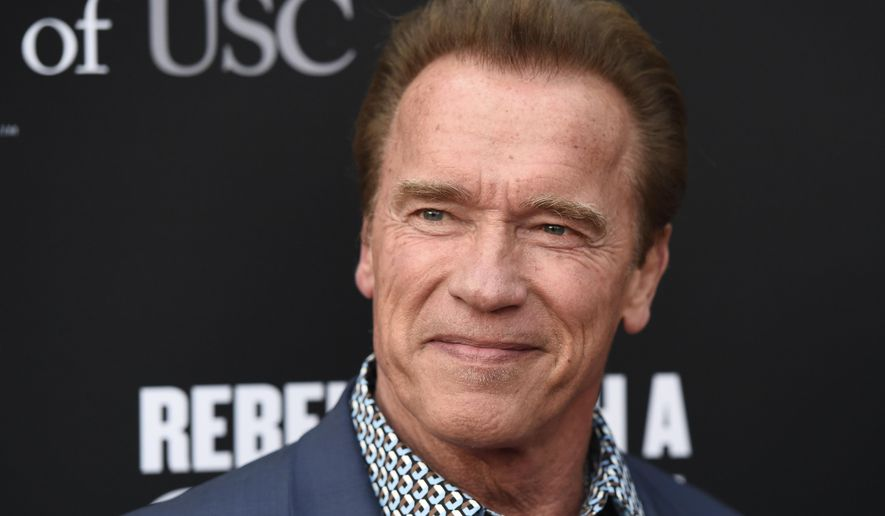 In this May 11, 2016, file photo, Arnold Schwarzenegger poses at the Rebels With A Cause Gala at The Barker Hangar in Santa Monica, Calif. (Photo by Chris Pizzello/Invision/AP, File)