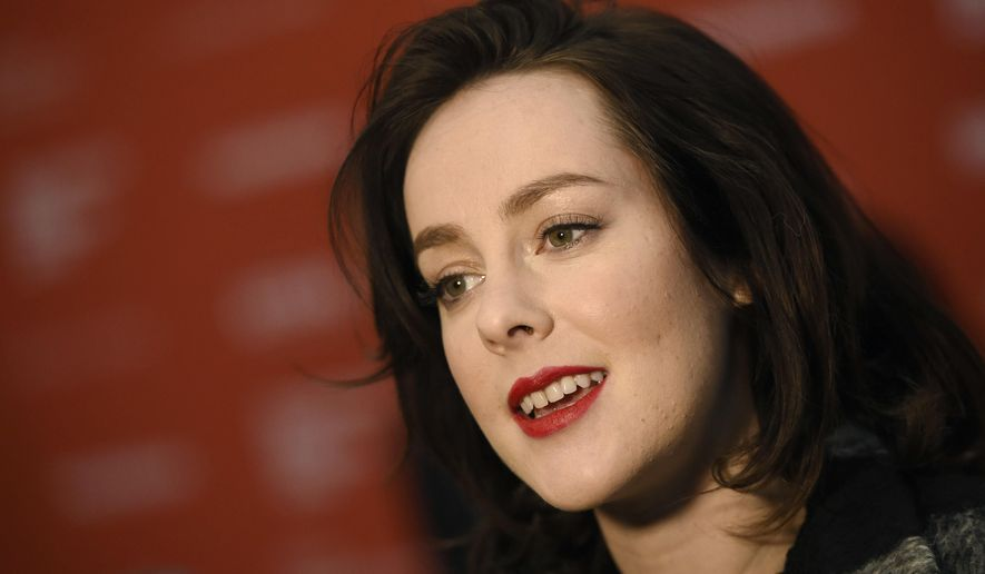 FILE - In this Jan. 25, 2016, file photo, Jena Malone, is interviewed at the 2016 Sundance Film Festival in Park City, Utah. On May 31, 2016, Malone announced the birth of her son with Ethan DeLorenzo on Instagram. (Photo by Chris Pizzello/Invision/AP, File)