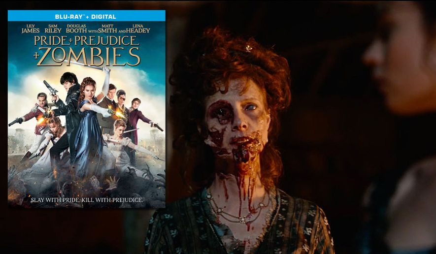 "A smartly dressed member of the undead looks for a bite to eat in ""Pride and Prejudice and Zombies,"" now available on Blu-ray from Sony Pictures Home Entertainment."