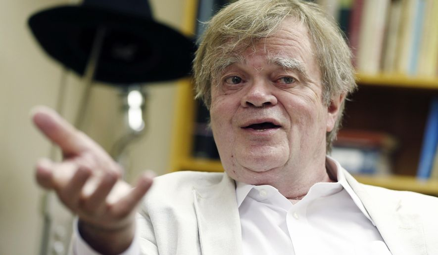 "In this July 20, 2015 file photo, Garrison Keillor, creator and host of ""A Prairie Home Companion,"" appears during an interview in St. Paul, Minn. (AP Photo/Jim Mone, File)"
