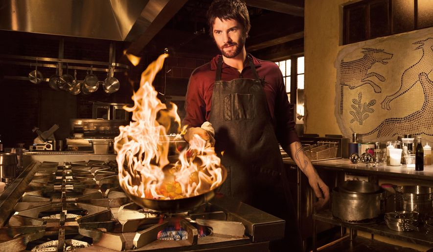 "In this image released by AMC, Jim Sturgess portrays Dion Patras in the new series, ""Feed the Beast,"" premiering Sunday at 10 p.m. ET on AMC. (Frank Ockenfels/AMC via AP)"