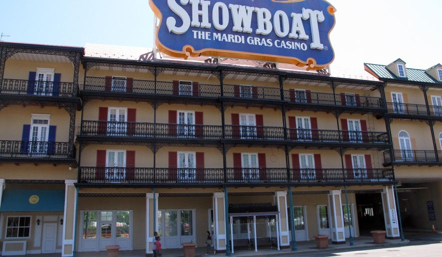 This June 27, 2014 photo shows the Showboat casino in Atlantic City, N.J. It closed in August 2014, one of four Atlantic City casinos to do so. But on Friday June 3, 2016, new owner Bart Blatstein said he will reopen the Showboat in July as a non-gambling hotel. (AP Photo/Wayne Parry)