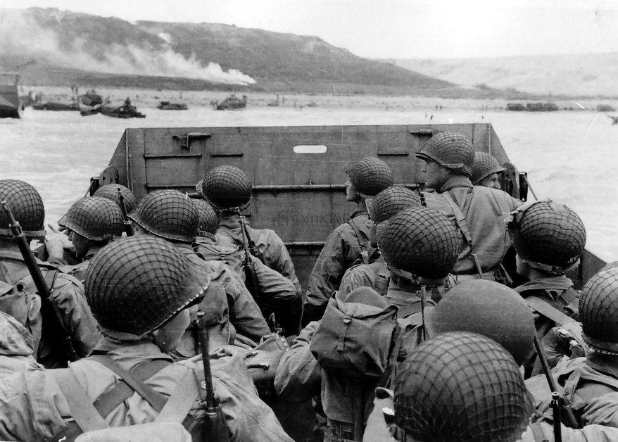 American troops approach Omaha Beach on June 6, 1944 - D-Day. (U.S. Army photo/file)