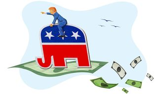 Trump and GOP Support Illustration by Greg Groesch/The Washington Times