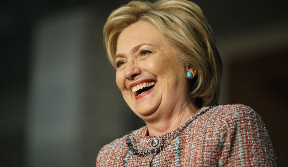 Hillary Clinton hit the requisite number of 2,383 delegates needed to become the presumptive Democratic nominee after a decisive weekend victory in Puerto Rico. (Associated Press)