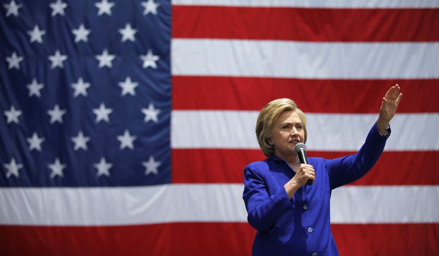 Democratic presidential candidate Hillary Clinton speaks at a rally, Monday, June 6, 2016, in Lynwood, Calif. (AP Photo/John Locher)