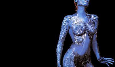 Rebecca Romijn as shape shifting mutant Mystique (Raven Darkholme) in the X-Men film series