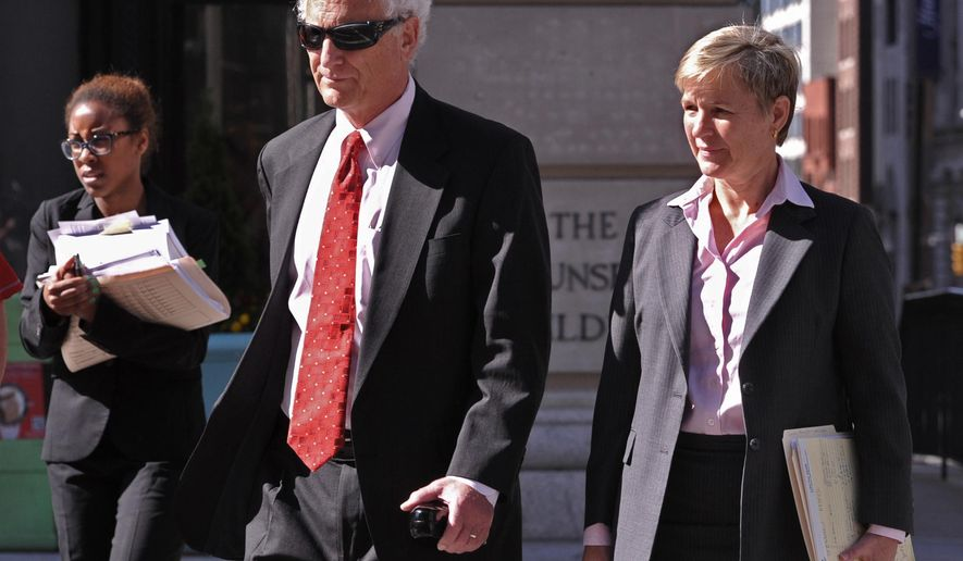 Chief Deputy State's Attorney Michael Schatzow, left, and Deputy State's Attorney Janice Bledsoe arrive at court for a motions hearing for Officer Caesar Goodson in Baltimore, Monday, June 6, 2016. Goodson, who was driving the transport wagon, faces second-degree murder, manslaughter, assault, misconduct in office and reckless endangerment charges in the death of Freddie Gray. Gray died April 19, 2015, a week after he suffered a critical spinal injury in the back of Goodson's wagon. (Amy Davis/The Baltimore Sun via AP)  WASHINGTON EXAMINER OUT; MANDATORY CREDIT
