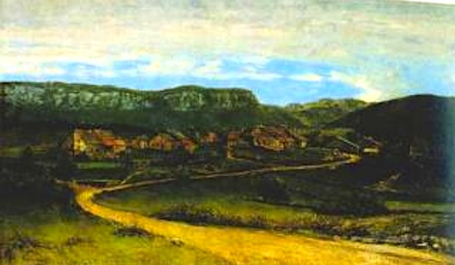 "Gustave Courbet's ""Landscape Around Ornans,"" a historic 19th century painting looted by Nazis during World War Ii, was recovered by the Commission for Art Recovery in Poland four years ago."