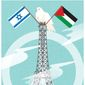 Illustration on the dreams and realities of the Paris Middle-East peace process by Linas Garsys/The Washington Times