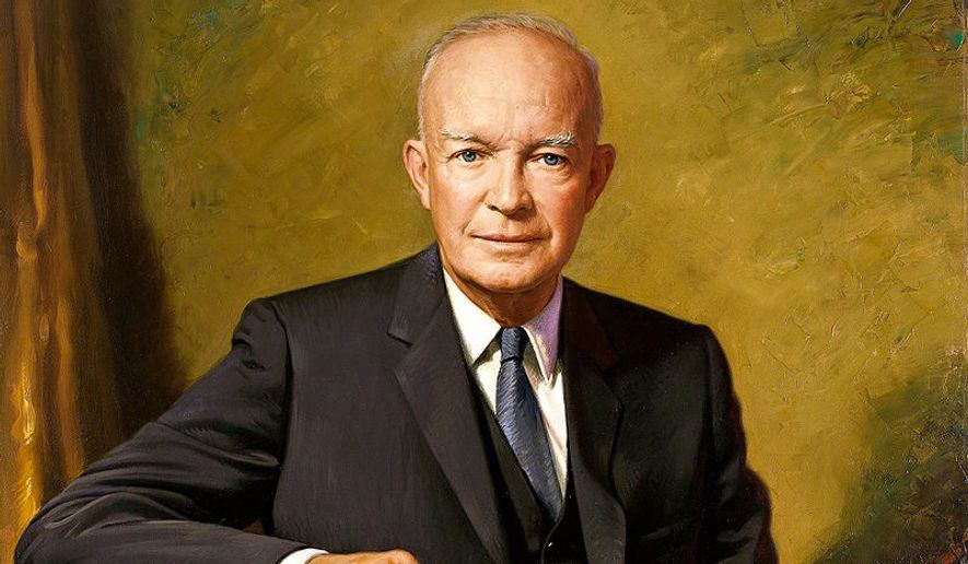Dwight D. Eisenhower, 34th president of the United States, had high favorability numbers throughout his time in office. (White house)