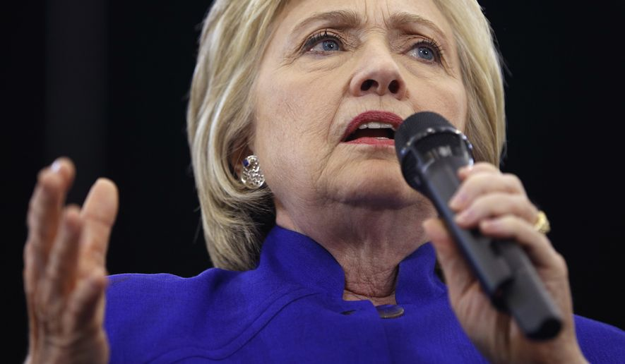 Democratic presidential candidate Hillary Clinton speaks at a rally, Monday, June 6, 2016, in Long Beach, Calif. (AP Photo/John Locher)