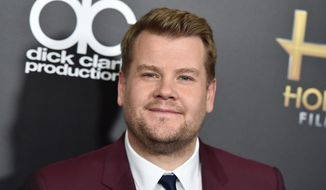 """In this Nov. 1, 2015, file photo, James Corden arrives at the Hollywood Film Awards in Beverly Hills, Calif. Corden told Howard Stern in a June 6, 2016, interview that he has no interest in taking over for """"Late Show"""" host Stephen Colbert. (Photo by Jordan Strauss/Invision/AP, File)"""