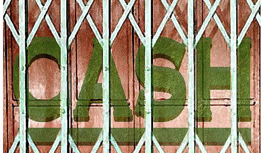 Illustration on CFPB interference with short term lending by Alexander Hunter/The Washington Times