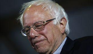 Democratic presidential candidate Sen. Bernie Sanders, I-Vt., speaks at a rally Tuesday, June 7, 2016, in Santa Monica, Calif. (AP Photo/John Locher)